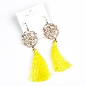 kate spade rose tussle earrings